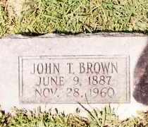 BROWN, JOHN T. - Johnson County, Arkansas | JOHN T. BROWN - Arkansas Gravestone Photos