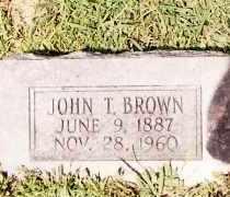BROWN, JOHN T. - Johnson County, Arkansas | JOHN T. BROWN - Arkansas Gravestone Photos