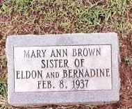BROWN, MARY ANN - Johnson County, Arkansas | MARY ANN BROWN - Arkansas Gravestone Photos