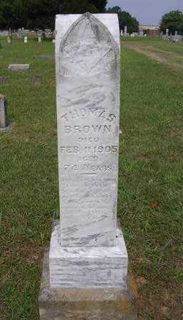 BROWN, THOMAS - Johnson County, Arkansas | THOMAS BROWN - Arkansas Gravestone Photos