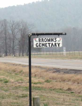 *BROWNS CEMETERY SIGN,  - Johnson County, Arkansas |  *BROWNS CEMETERY SIGN - Arkansas Gravestone Photos