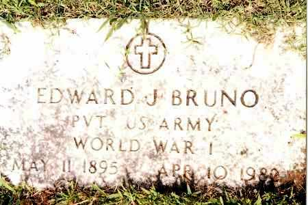 BRUNO (VETERAN WWI), EDWARD J - Johnson County, Arkansas | EDWARD J BRUNO (VETERAN WWI) - Arkansas Gravestone Photos