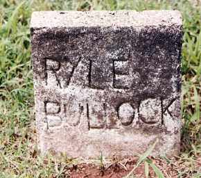 BULLOCK, RYLE - Johnson County, Arkansas | RYLE BULLOCK - Arkansas Gravestone Photos