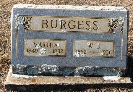 BURGESS, MARTHA - Johnson County, Arkansas | MARTHA BURGESS - Arkansas Gravestone Photos