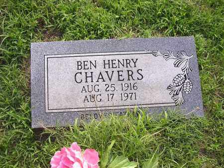 CHAVERS, BEN HENRY - Johnson County, Arkansas | BEN HENRY CHAVERS - Arkansas Gravestone Photos