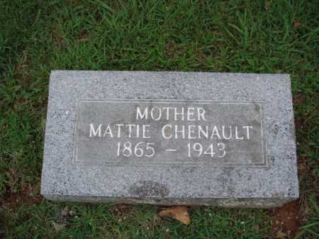 CHENAULT, MATTIE - Johnson County, Arkansas | MATTIE CHENAULT - Arkansas Gravestone Photos