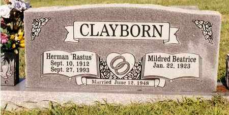 CLAYBORN, MILDRED BEATRICE - Johnson County, Arkansas | MILDRED BEATRICE CLAYBORN - Arkansas Gravestone Photos