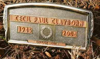 CLAYBORN, CECIL PAUL - Johnson County, Arkansas | CECIL PAUL CLAYBORN - Arkansas Gravestone Photos