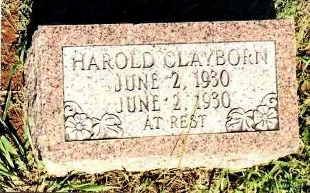 CLAYBORN, HAROLD - Johnson County, Arkansas | HAROLD CLAYBORN - Arkansas Gravestone Photos