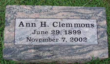 CLEMMONS, ANN H. - Johnson County, Arkansas | ANN H. CLEMMONS - Arkansas Gravestone Photos