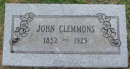 CLEMMONS, JOHN - Johnson County, Arkansas | JOHN CLEMMONS - Arkansas Gravestone Photos