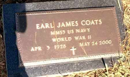 COATS  (VETERAN WWII), EARL JAMES - Johnson County, Arkansas | EARL JAMES COATS  (VETERAN WWII) - Arkansas Gravestone Photos