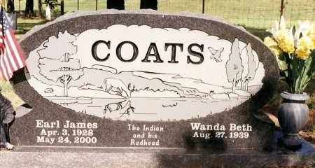 COATS, EARL JAMES - Johnson County, Arkansas | EARL JAMES COATS - Arkansas Gravestone Photos