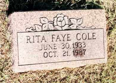 COLE, RITA FAYE - Johnson County, Arkansas | RITA FAYE COLE - Arkansas Gravestone Photos