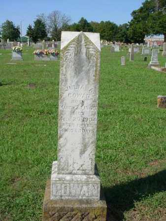 COWAN, JULIA A. - Johnson County, Arkansas | JULIA A. COWAN - Arkansas Gravestone Photos