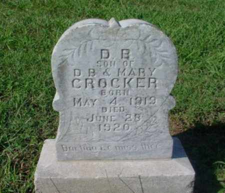 CROCKER, DANIEL B. - Johnson County, Arkansas | DANIEL B. CROCKER - Arkansas Gravestone Photos