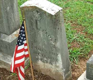 CROWLEY  (VETERAN CSA), WILLIAM - Johnson County, Arkansas | WILLIAM CROWLEY  (VETERAN CSA) - Arkansas Gravestone Photos