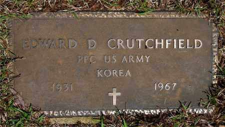 CRUTCHFIELD  (VETERAN KOR), EDWARD D - Johnson County, Arkansas | EDWARD D CRUTCHFIELD  (VETERAN KOR) - Arkansas Gravestone Photos