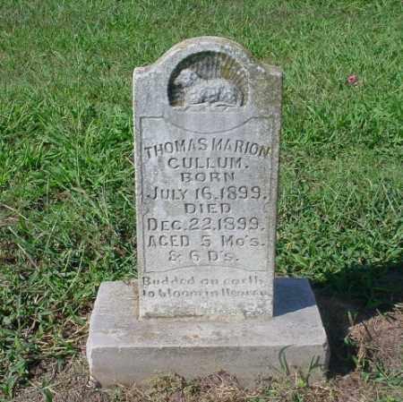 CULLUM, THOMAS MARION - Johnson County, Arkansas | THOMAS MARION CULLUM - Arkansas Gravestone Photos