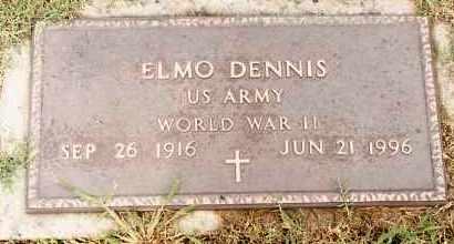 DENNIS  (VETERAN WWII), ELMO - Johnson County, Arkansas | ELMO DENNIS  (VETERAN WWII) - Arkansas Gravestone Photos