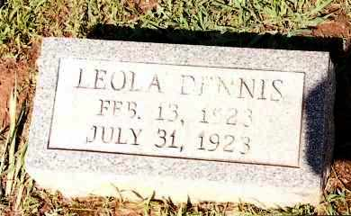 DENNIS, LEOLA - Johnson County, Arkansas | LEOLA DENNIS - Arkansas Gravestone Photos