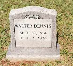 DENNIS, WALTER - Johnson County, Arkansas | WALTER DENNIS - Arkansas Gravestone Photos