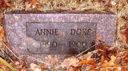 DOKE, ANNIE - Johnson County, Arkansas   ANNIE DOKE - Arkansas Gravestone Photos