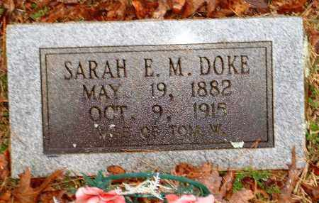 DOKE, SARAH E M - Johnson County, Arkansas | SARAH E M DOKE - Arkansas Gravestone Photos