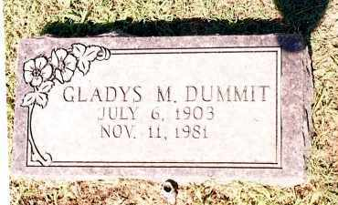 DUMMIT, GLADYS M - Johnson County, Arkansas | GLADYS M DUMMIT - Arkansas Gravestone Photos