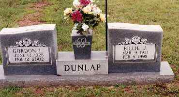 DUNLAP, BILLIE J. - Johnson County, Arkansas | BILLIE J. DUNLAP - Arkansas Gravestone Photos