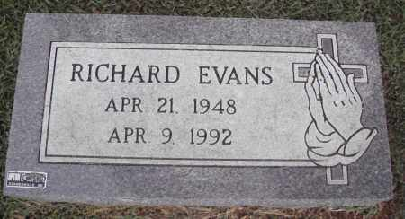 EVANS, RICHARD - Johnson County, Arkansas | RICHARD EVANS - Arkansas Gravestone Photos
