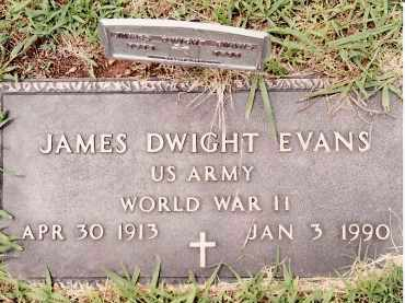 EVANS  (VETERAN WWII), JAMES DWIGHT - Johnson County, Arkansas | JAMES DWIGHT EVANS  (VETERAN WWII) - Arkansas Gravestone Photos