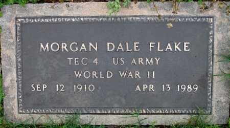 FLAKE  (VETERAN WWII), MORGAN DALE - Johnson County, Arkansas | MORGAN DALE FLAKE  (VETERAN WWII) - Arkansas Gravestone Photos