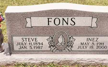 FONS, STEVE - Johnson County, Arkansas | STEVE FONS - Arkansas Gravestone Photos