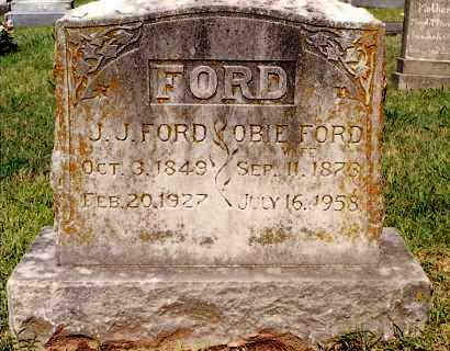 FORD, J J - Johnson County, Arkansas | J J FORD - Arkansas Gravestone Photos