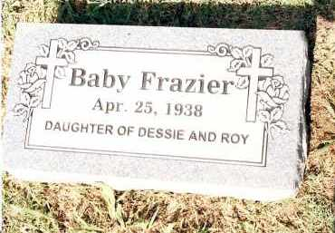 FRAZIER, BABY - Johnson County, Arkansas | BABY FRAZIER - Arkansas Gravestone Photos