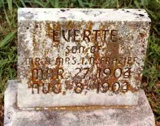 FRAZIER, EVERTTE - Johnson County, Arkansas | EVERTTE FRAZIER - Arkansas Gravestone Photos