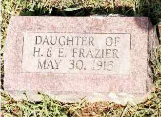 FRAZIER, INFANT DAUGHTER - Johnson County, Arkansas | INFANT DAUGHTER FRAZIER - Arkansas Gravestone Photos