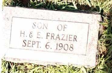 FRAZIER, INFANT SON - Johnson County, Arkansas | INFANT SON FRAZIER - Arkansas Gravestone Photos