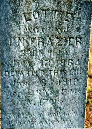 FRAZIER, LOTTIE - Johnson County, Arkansas | LOTTIE FRAZIER - Arkansas Gravestone Photos