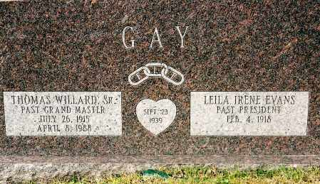 GAY, THOMAS WILLARD - Johnson County, Arkansas | THOMAS WILLARD GAY - Arkansas Gravestone Photos