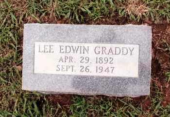 GRADDY, LEE EDWIN - Johnson County, Arkansas | LEE EDWIN GRADDY - Arkansas Gravestone Photos