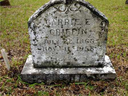 GRIFFIN, CARRIE E. - Johnson County, Arkansas | CARRIE E. GRIFFIN - Arkansas Gravestone Photos