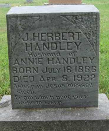 HANDLEY, J. HERBERT - Johnson County, Arkansas | J. HERBERT HANDLEY - Arkansas Gravestone Photos