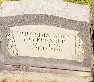 BOEN HARKREADER, DULCENIA - Johnson County, Arkansas | DULCENIA BOEN HARKREADER - Arkansas Gravestone Photos
