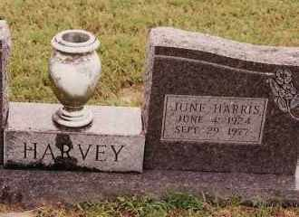 HARRIS HARVEY, JUNE - Johnson County, Arkansas | JUNE HARRIS HARVEY - Arkansas Gravestone Photos