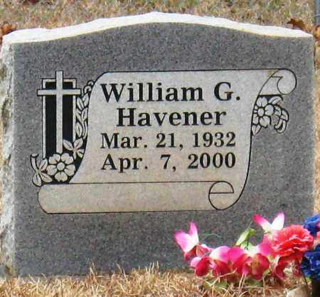 HAVENER, WILLIAM G - Johnson County, Arkansas | WILLIAM G HAVENER - Arkansas Gravestone Photos