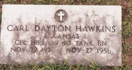 HAWKINS  (VETERAN), CARL DAYTON - Johnson County, Arkansas | CARL DAYTON HAWKINS  (VETERAN) - Arkansas Gravestone Photos