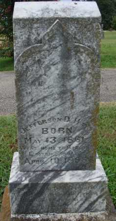 HAYS, JEFFERSON D. - Johnson County, Arkansas | JEFFERSON D. HAYS - Arkansas Gravestone Photos
