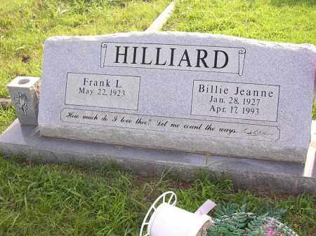 HILLIARD, BILLIE JEANNE - Johnson County, Arkansas | BILLIE JEANNE HILLIARD - Arkansas Gravestone Photos